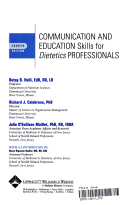 Communication and education skills for dietetics professionals title page fandeluxe Images