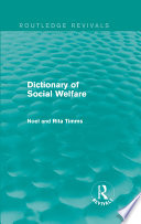 Dictionary of Social Welfare