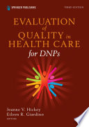 Evaluation Of Quality In Health Care For Dnps Third Edition