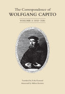 Pdf The Correspondence of Wolfgang Capito