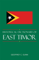 Historical Dictionary of East Timor