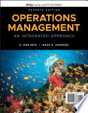 """""""Operations Management: An Integrated Approach"""" by R. Dan Reid, Nada R. Sanders"""