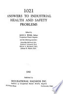 1021 Answers to Industrial Health and Safety Problems