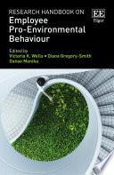 Research Handbook on Employee Pro Environmental Behaviour