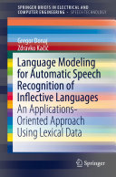 Language Modeling for Automatic Speech Recognition of Inflective Languages [Pdf/ePub] eBook