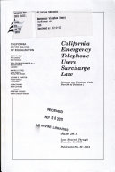 California Emergency Telephone Users Surcharge Law