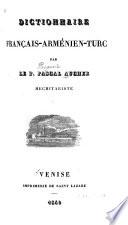 Dictionnaire français-arménien-turc
