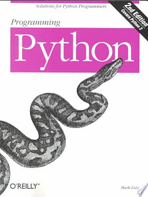 Book cover of 'Programming Python' by Mark Lutz