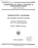Legislative Calendar