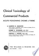 Clinical toxicology of commercial products