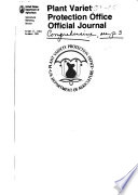 Plant Variety Protection Office Official Journal Book