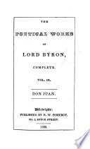 The Poetical Works of Lord Byron  Complete  Don Juan