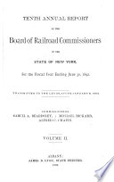 Annual Report of the Board of Railroad Commissioners of the State of New York for the Fiscal Year Ending     Book