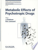 Metabolic Effects of Psychotropic Drugs Book