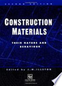 Construction Materials   Their Nature And Behaviour