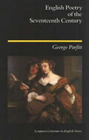 English Poetry of the Seventeenth Century Book