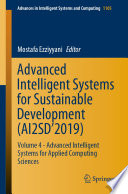 Advanced Intelligent Systems For Sustainable Development Ai2sd 2019  Book PDF