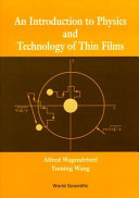 An Introduction to Physics and Technology of Thin Films
