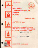 Passenger Commuter Train And Motor Vehicle Collisions At Grade Crossings 1985  Book PDF