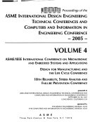 Proceedings of the ASME International Design Engineering Technical Conferences and Computers and Information in Engineering Conferences  2005