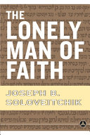 The Lonely Man of Faith Pdf/ePub eBook