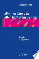 Attention Disorders After Right Brain Damage Book
