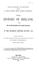 Foras feasa ar Eirinn     The history of Ireland  tr  and annotated by J  O Mahony