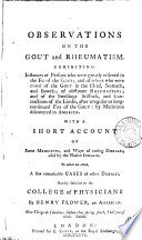 Observations On The Gout And Rheumatism Book PDF