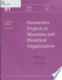 Humanities Projects in Museums and Historical Organizations Book