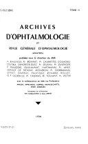 Archives d ophtalmologie et revue g  n  rale d ophtalmologie Book