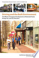 Driving and the Built Environment