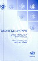 Droits de l'homme : recueil d'instruments internationaux