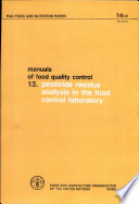 Manuals of Food Quality Control