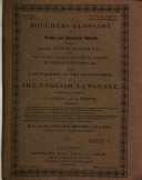 Glossary of Archaic and Provincial Words, Edited by Joseph Hunter