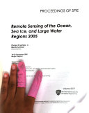 Remote Sensing Of The Ocean Sea Ice And Large Water Regions Book PDF