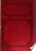 The Rice Journal ...