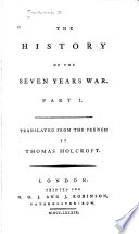 The history of the Seven Years War Book