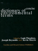 Concise Dictionary of Environmental Terms