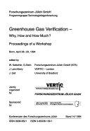 Greenhouse gas verification--