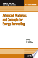 Advanced Materials And Concepts For Energy Harvesting Book PDF