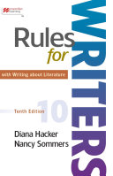 Rules for Writers with Writing about Literature  Tabbed Version  Book