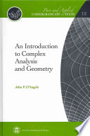 An Introduction to Complex Analysis and Geometry Book