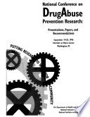National Conference On Drug Abuse Prevention Research 1996