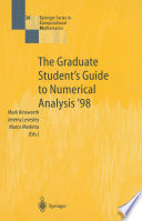 The Graduate Student   s Guide to Numerical Analysis    98 Book PDF