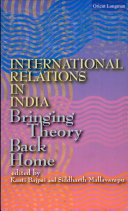 Pdf International Relations in India: Bringing theory back home