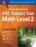 Mcgraw Hill Education Sat Subject Test Math Level 2 4th Ed