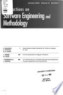 ACM Transactions on Software Engineering and Methodology