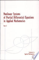 Nonlinear Systems of Partial Differential Equations in Applied Mathematics Book