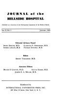 Journal of the Hillside Hospital
