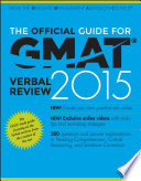 The Official Guide For Gmat Verbal Review 2015 With Online Question Bank And Exclusive Video